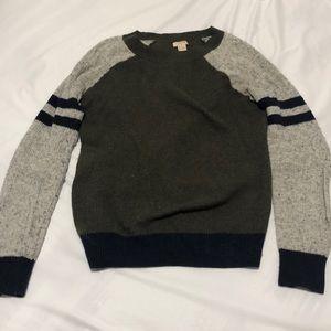 Jcrew waffle knit sweater two toned